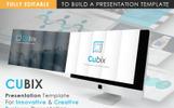 "Modello PowerPoint Bootstrap #74408 ""CUBIX Modern Presentation"""