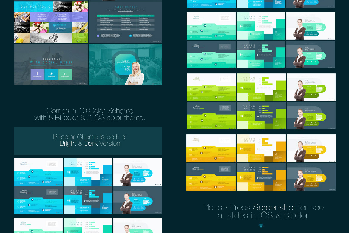 ios pro powerpoint template 68593