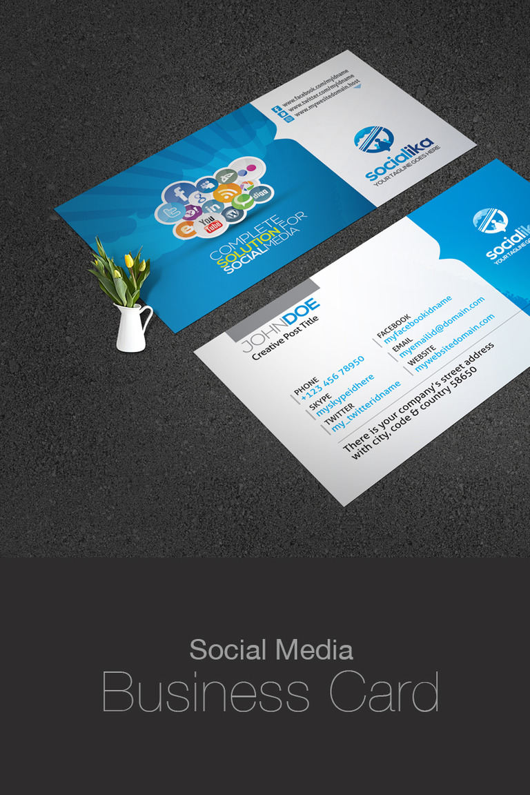 Social media business card corporate identity template 73658 social media business card corporate identity template big screenshot fbccfo Image collections