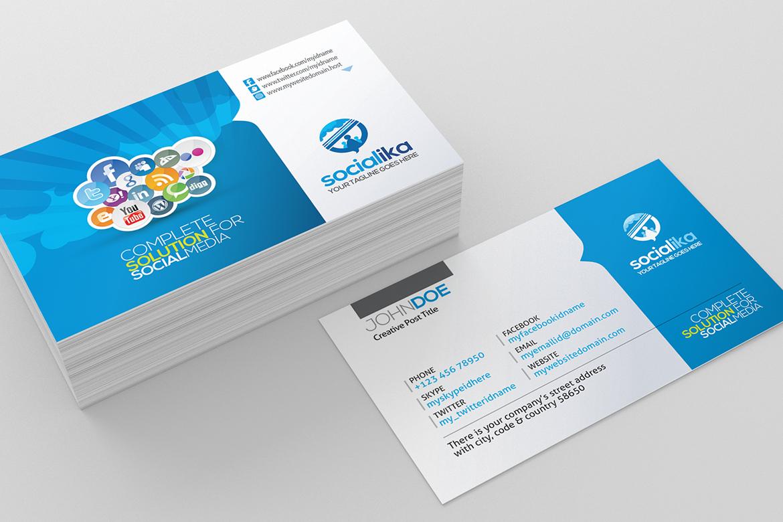 social media business card corporate identity template 73658. Black Bedroom Furniture Sets. Home Design Ideas