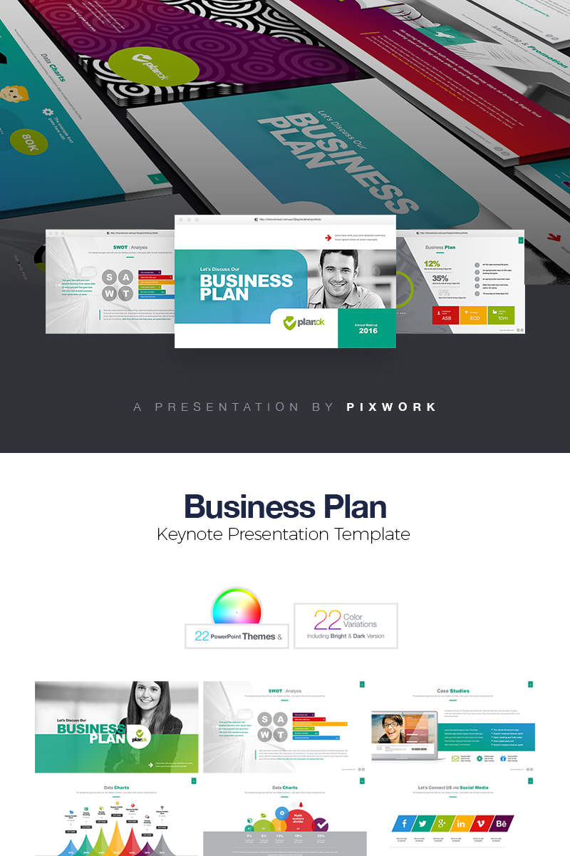 business plan keynote template 74068