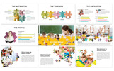 """Template PowerPoint #81766 """"Puzzle - Education"""""""