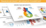 """Finance & Economy Infographic"" modèle PowerPoint"