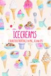37 Icecream and Summer Snack Illustration