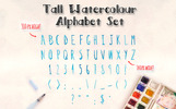 2 Hand Painted Alphabets - Photoshop Brush Scripts Illustration