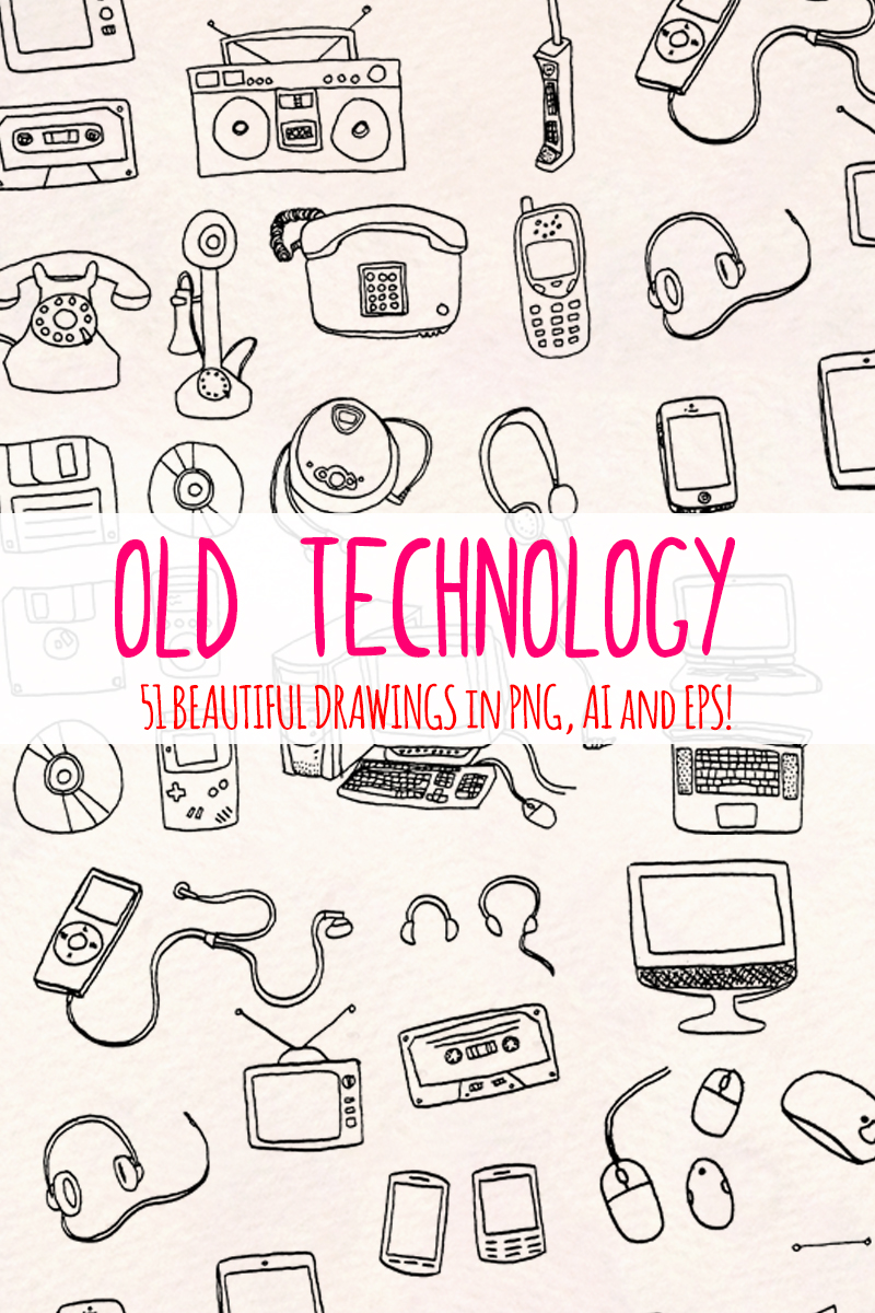 51 Retro Computer and Technology Illustration #79685