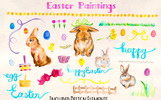 96 Easter Bunny and Egg Illustration
