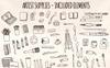 59 Art and Painting Supplies - Art Themed Vector Elements Illustration Big Screenshot
