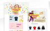 "Template PSD #80926 ""Uneno - Kids Fashion eCommerce"" Screenshot grande"