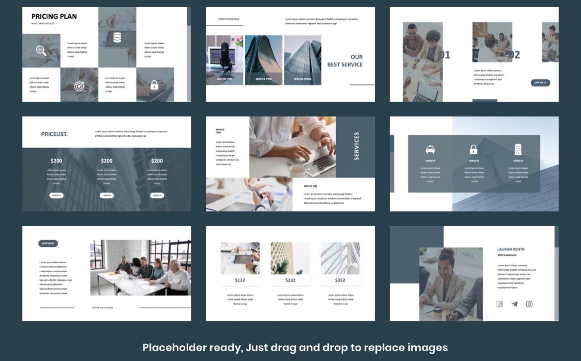 INVESTA - Business Presentation PowerPoint Template