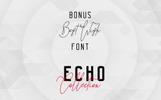 Echo 14 Font Family + Bonus Font