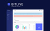 BITLIVE - Crypto Currency and Mining PSD Template Big Screenshot