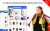 Responsivt A-wave OpenCart-mall En stor skärmdump