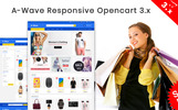 """""""A-wave"""" Responsive OpenCart Template"""