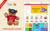 """Responzivní OpenCart šablona """"Toys & kids"""" Velký screenshot"""