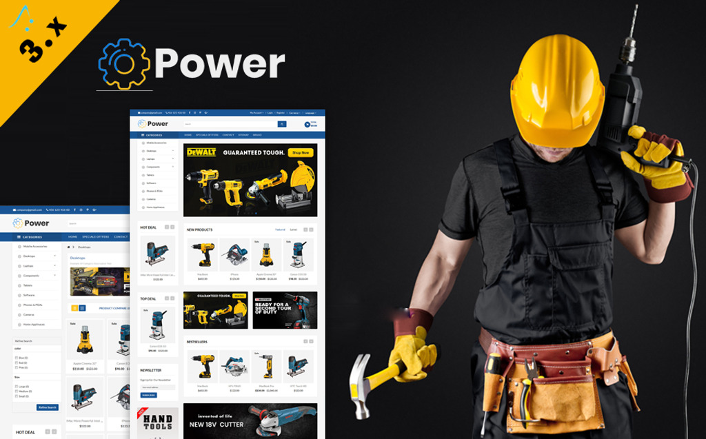 Powertools multipurpose OpenCart Template