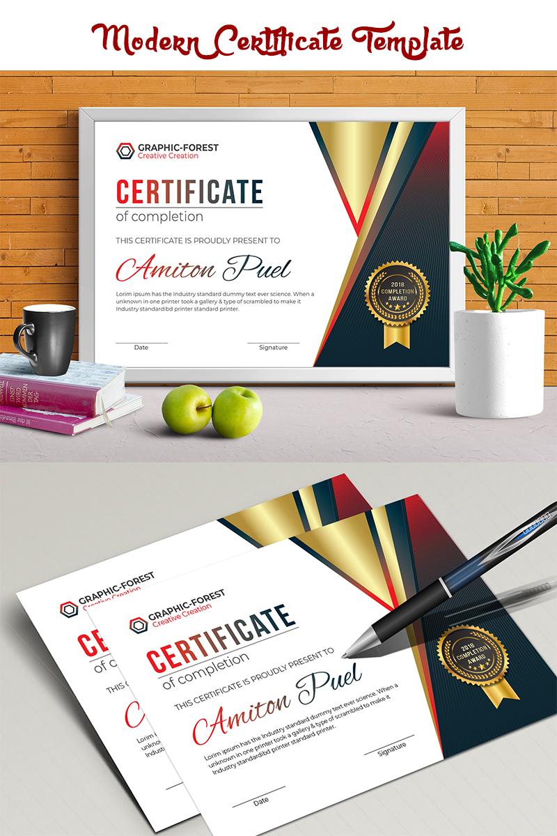 Zertifikat-Vorlage #70841 für Ausbildung