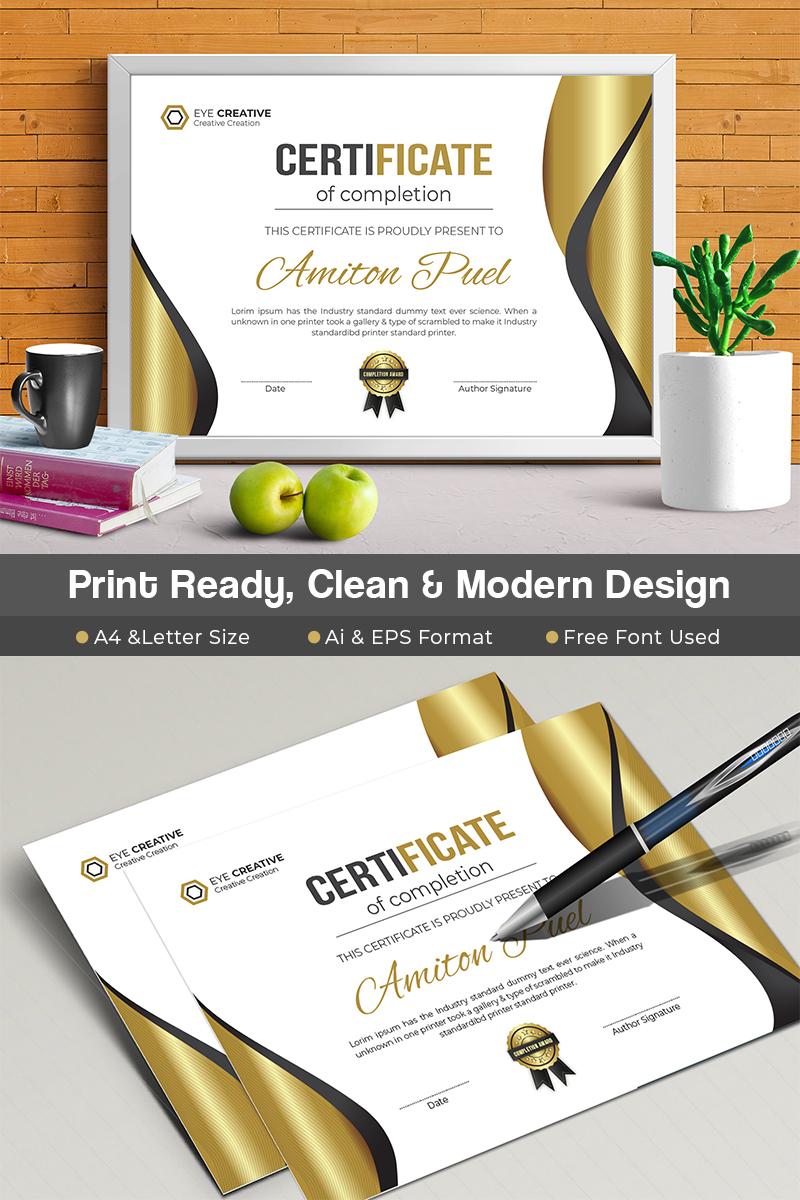 modern certificate template 70853 - Modern Certificate Template
