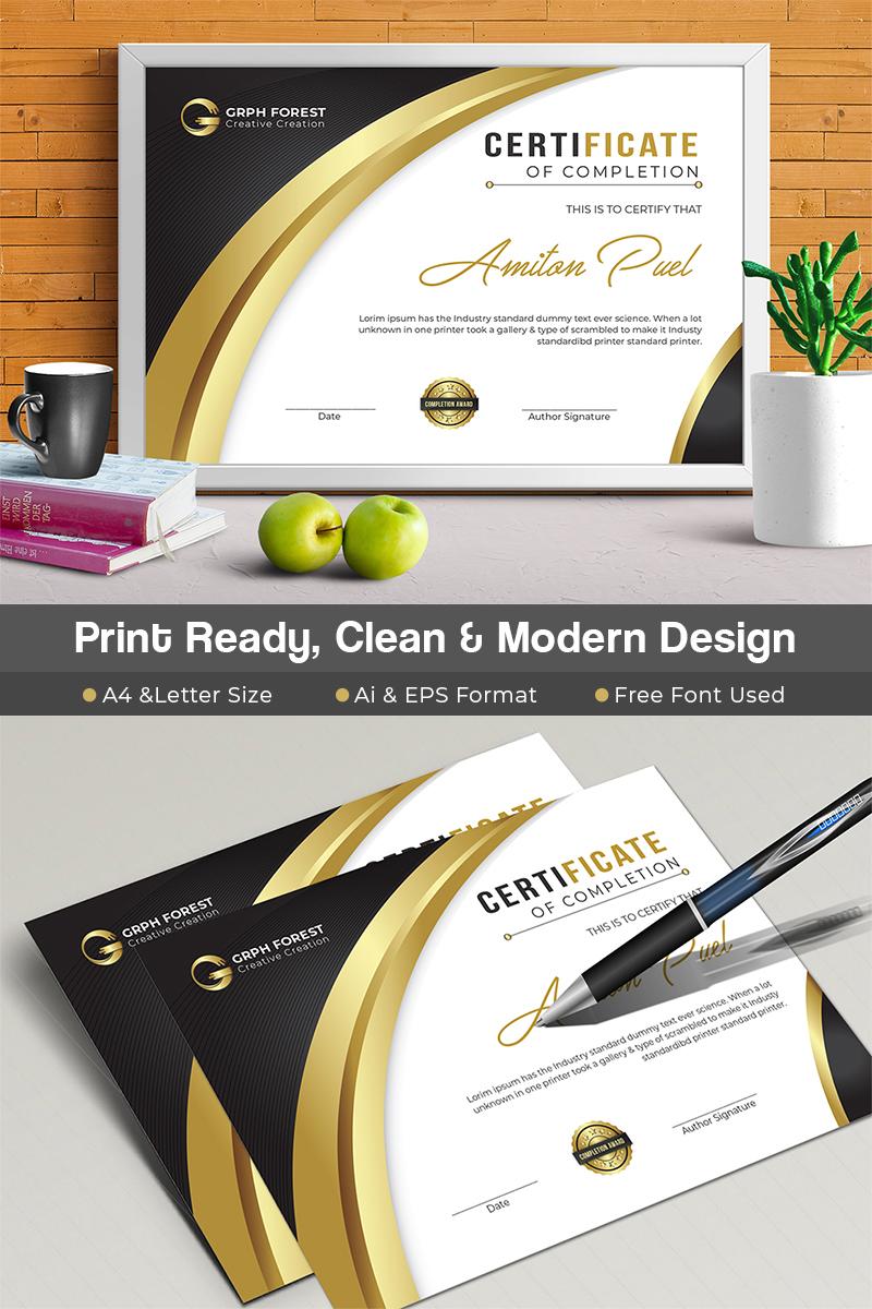 elegant certificate template 73490