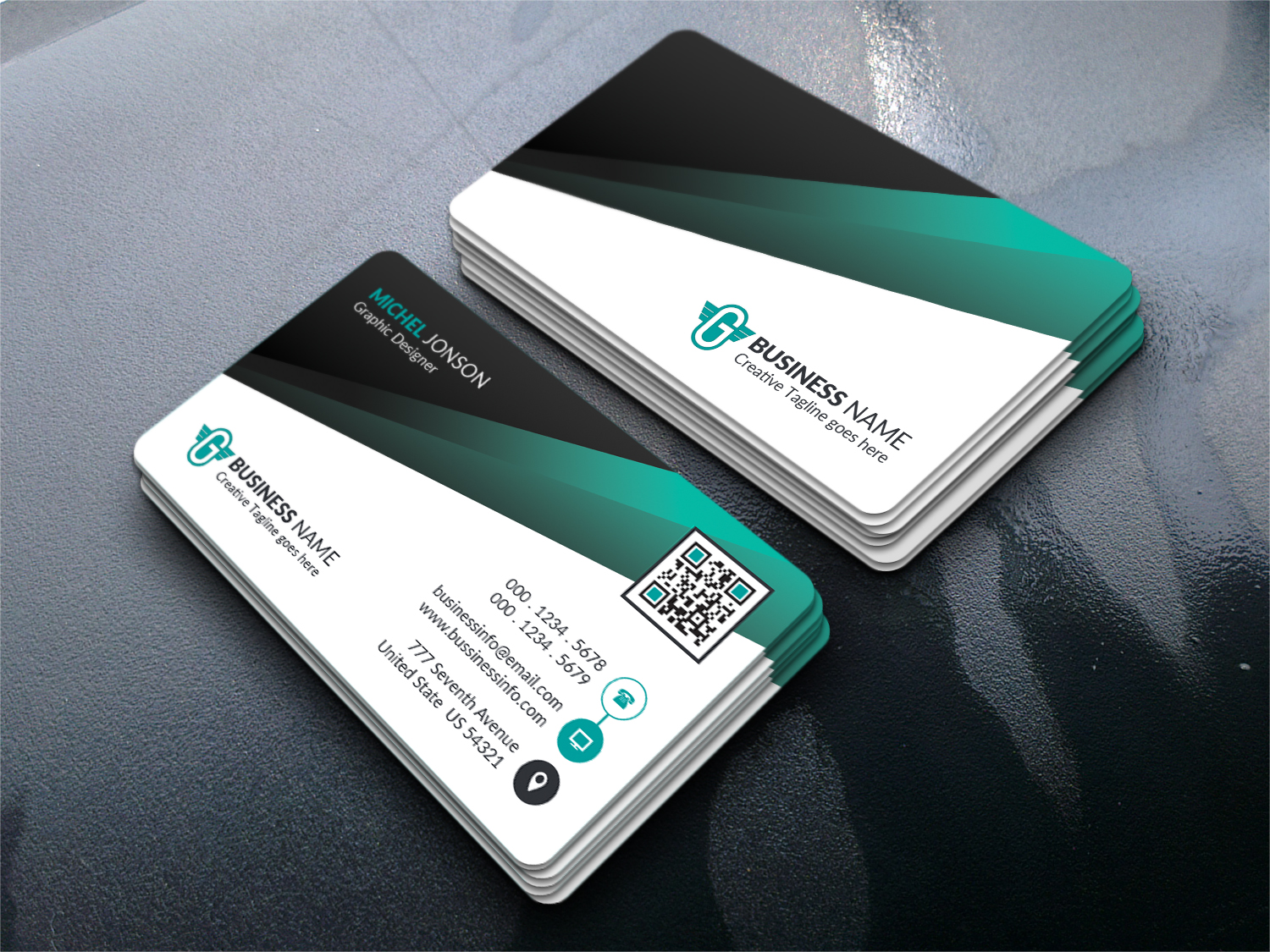 Corporate Business Card Identity Template