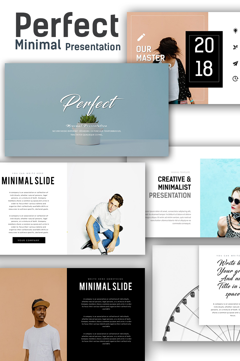 Perfect minimal presentation powerpoint template 67868 toneelgroepblik Image collections