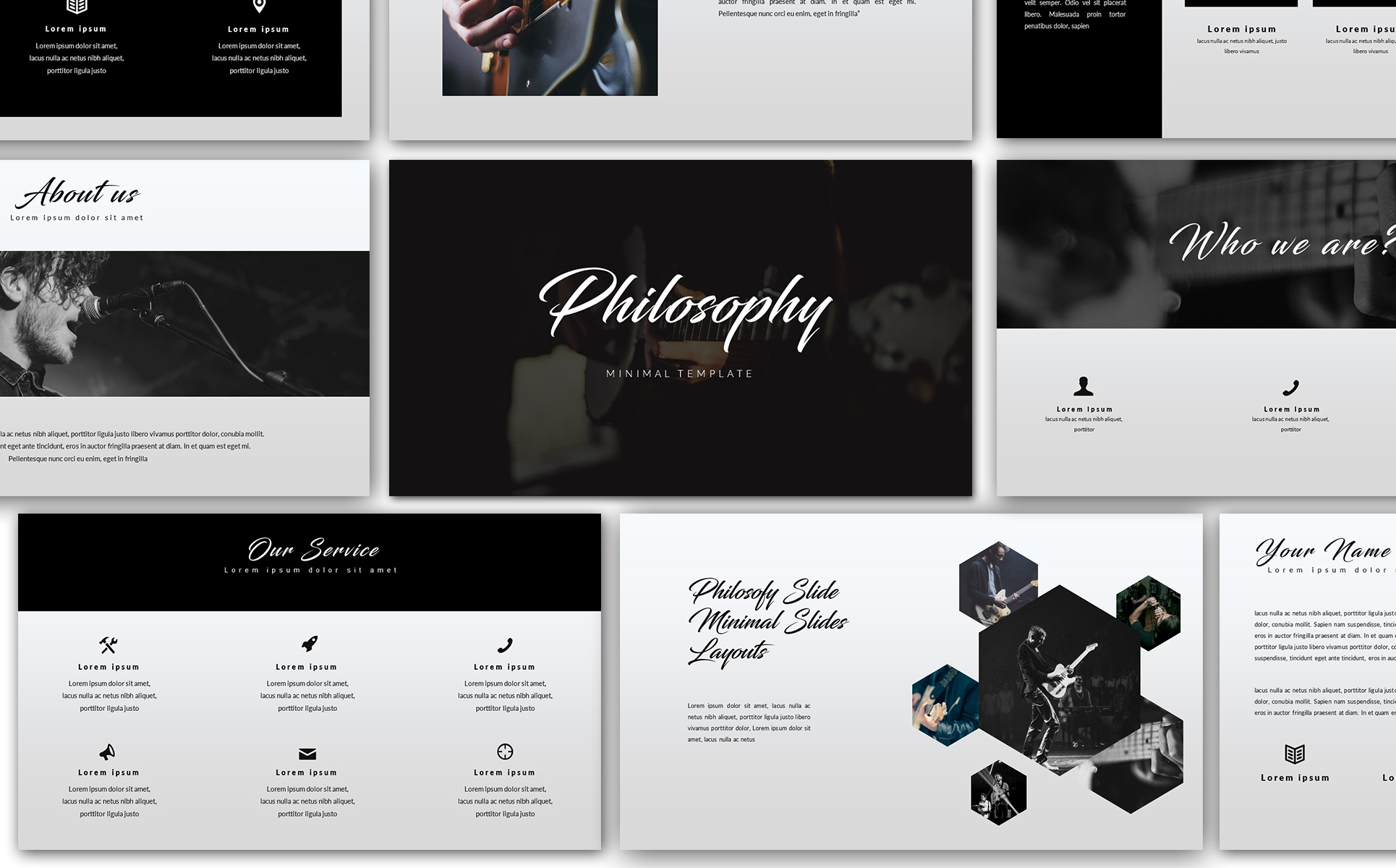 Philosophy minimal powerpoint template 68385 philosophy minimal powerpoint template big screenshot toneelgroepblik
