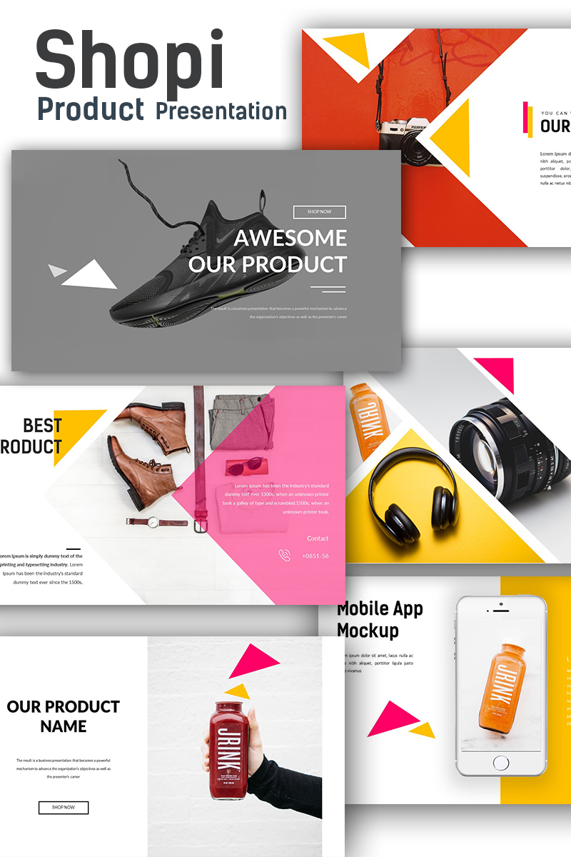 shopi premium shop presentation powerpoint template 68614