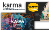"""Karma Creative Presentation"" Responsive PowerPoint Template"
