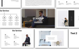 """Startup Business Presentation"" modèle PowerPoint"