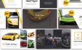 Pista Car Presentation Template PowerPoint №70418