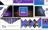 "Template PowerPoint Responsive #70819 ""Nova Modern Presentation"""
