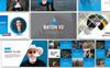 Responsivt Batoh V2 Premium PowerPointmall En stor skärmdump