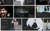 Reszponzív Darkness Presentation PowerPoint sablon Nagy méretű képernyőkép