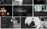 Reszponzív Darkness Presentation PowerPoint sablon
