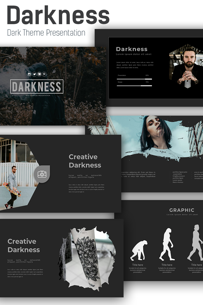 Darkness Keynote Template 73221