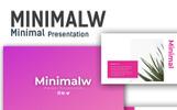 """PowerPoint Vorlage namens """"Minimalw -"""""""
