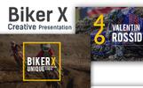 """Biker X"" modèle PowerPoint adaptatif"