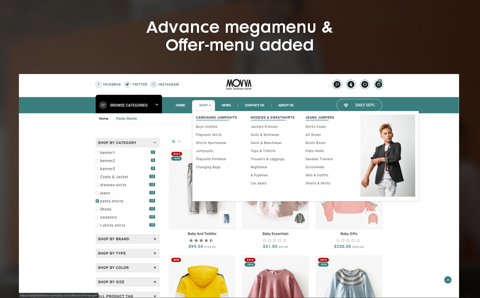 Movva - The Baby kids fashion premium Shopify Theme