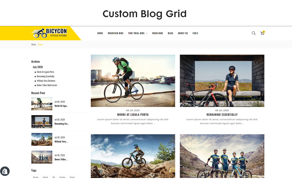 Bicycon - The Cycle & Bicycle Responsive Shopify Theme