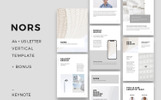 NORS - A4 Vertical Keynote Template