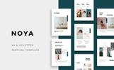 """""""NOYA - Vertical A4 & US Letter"""" modèle PowerPoint"""