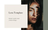 """Tema PowerPoint #80976 """"LORA - Vertical A4 + US letter"""" Screenshot grande"""