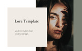 """Tema PowerPoint #80976 """"LORA - Vertical A4 + US letter"""""""