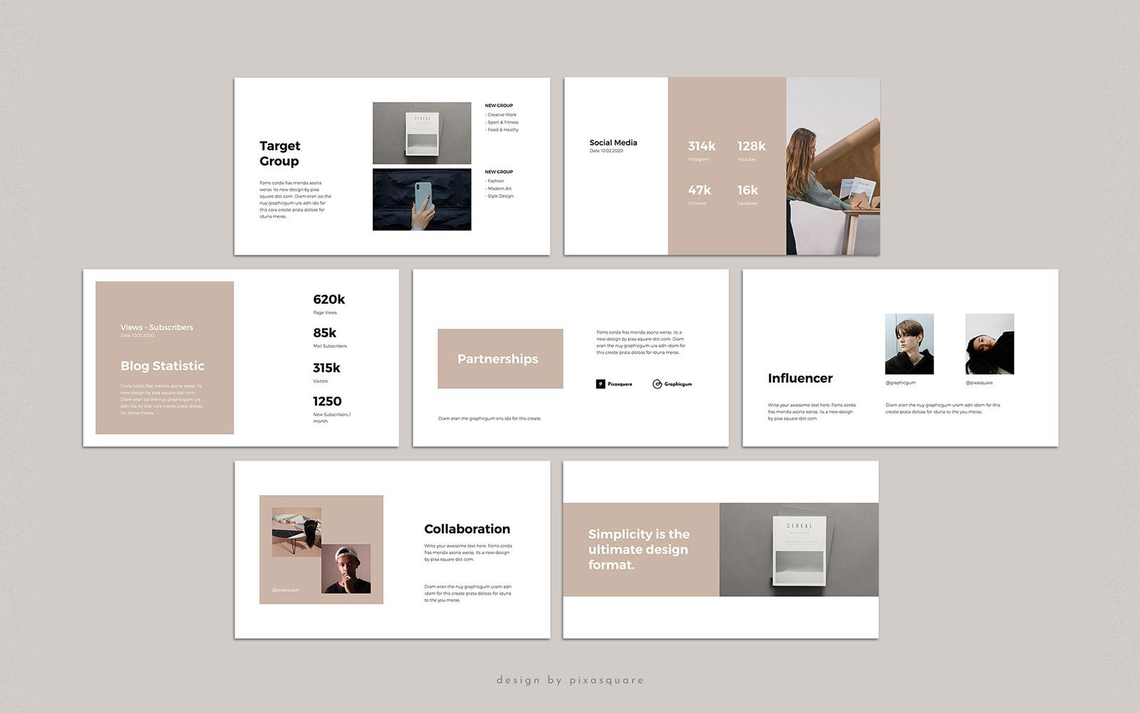 MACA - Media Kit PowerPoint Template