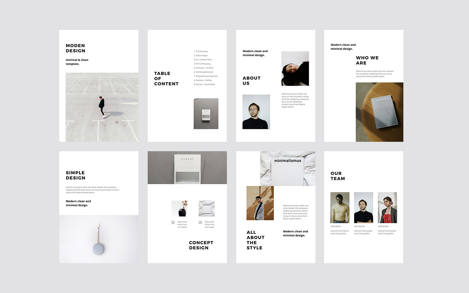 MODEN - A4 Vertical Style PowerPoint Template