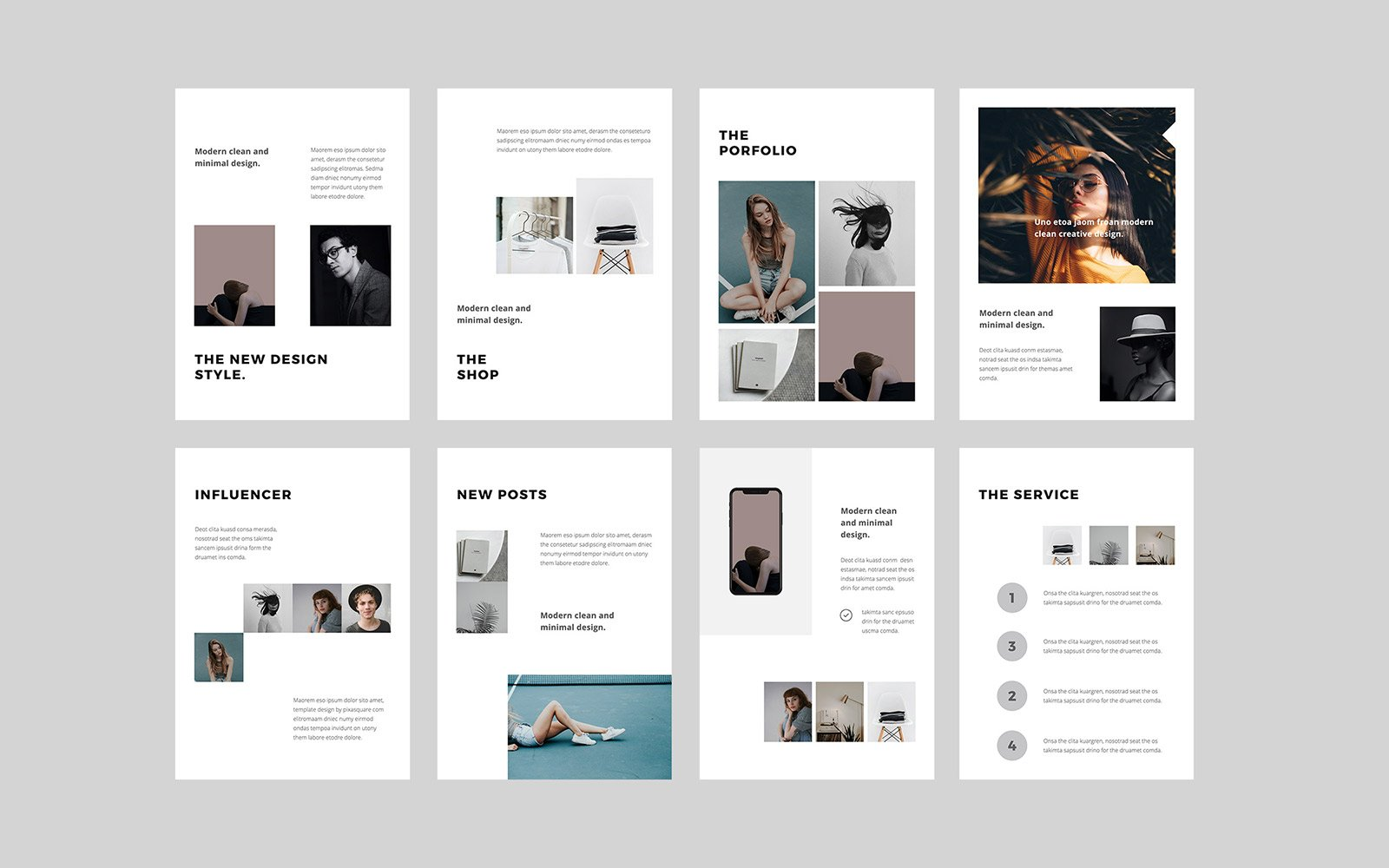 BOSH - A4 Vertical PowerPoint Template