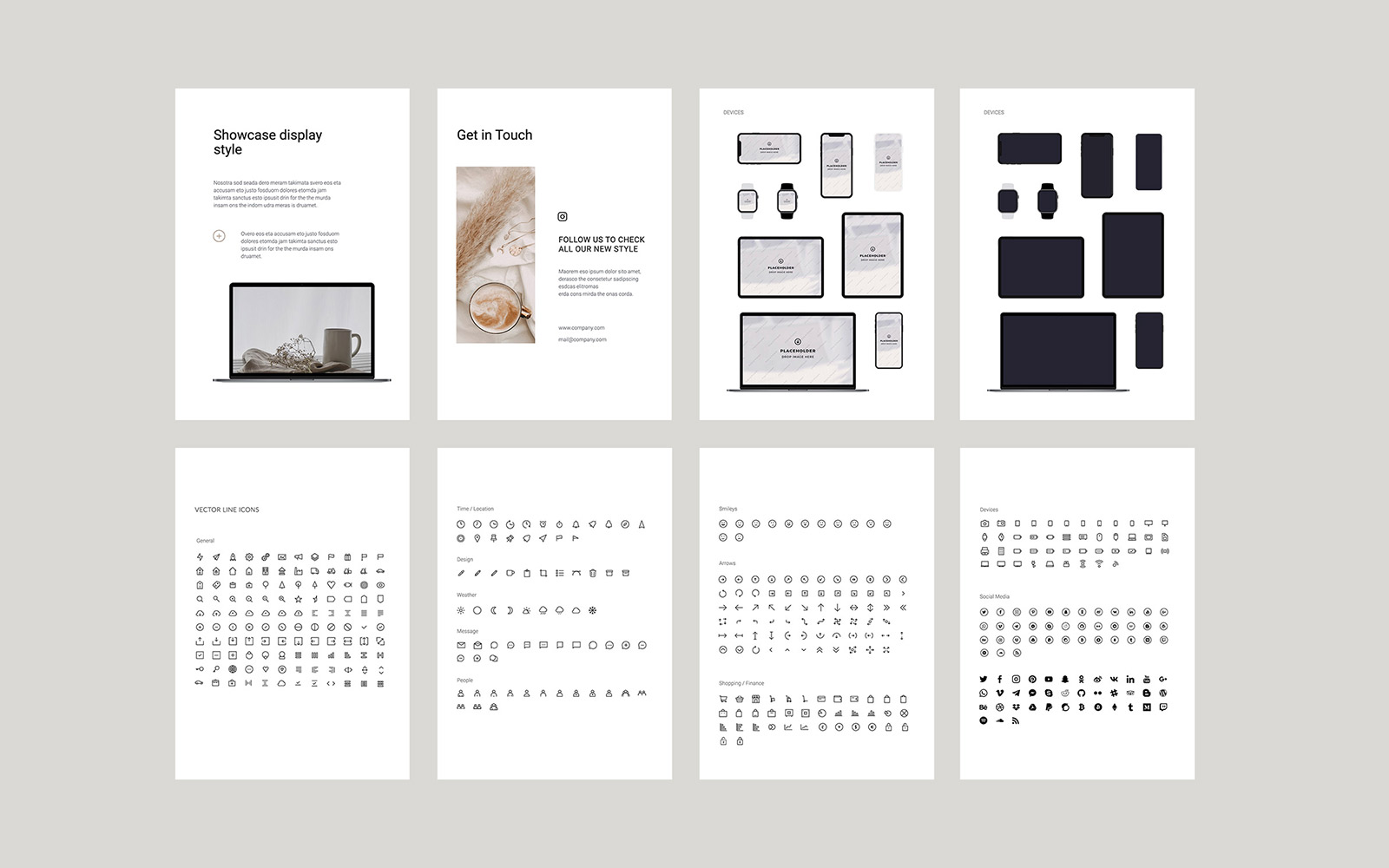 COSA - A4 Vertical PowerPoint Template