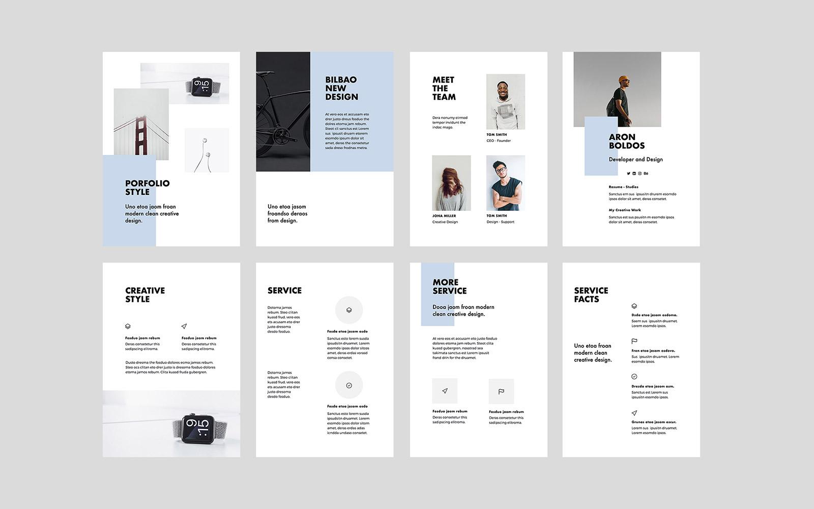 BILBAO - A4 Vertical PowerPoint Template