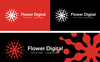 Flower Digital Logo Template Big Screenshot