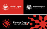 Flower Digital Logo Template